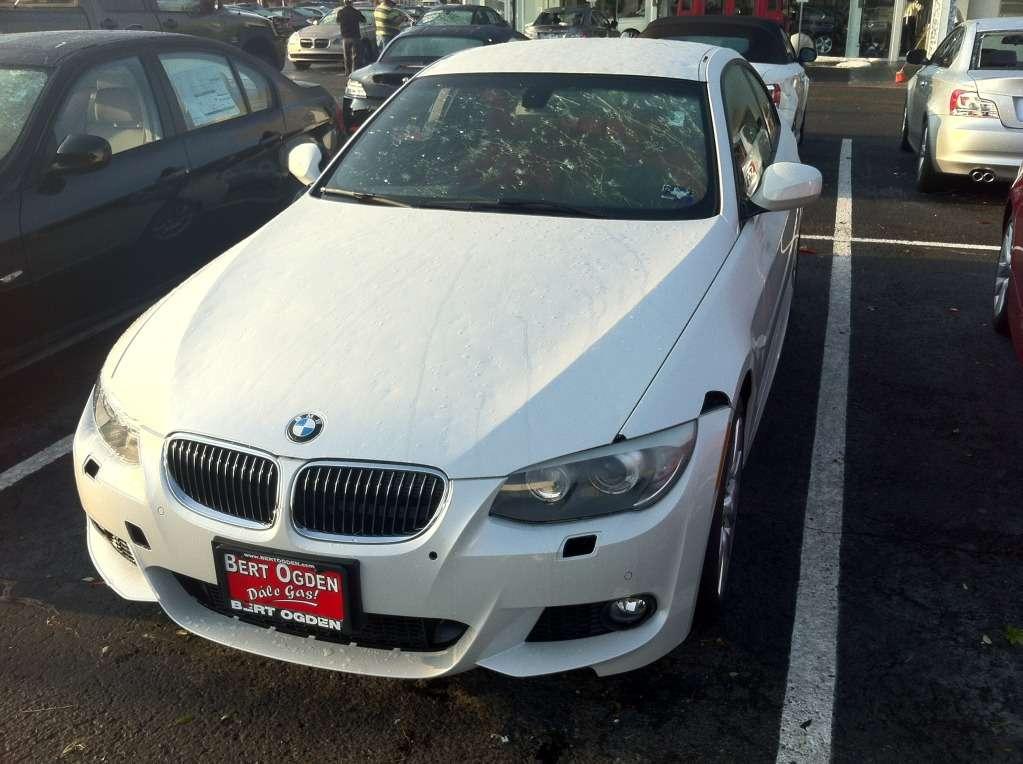 BMW serii 3 F30 2012 uszkodzone przez grad