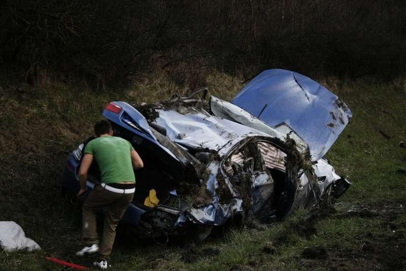 BMW M5 F10 wypadek crash
