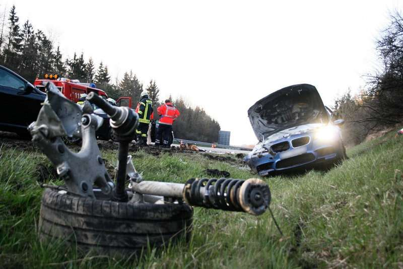 BMW M5 F10 wypadek crash