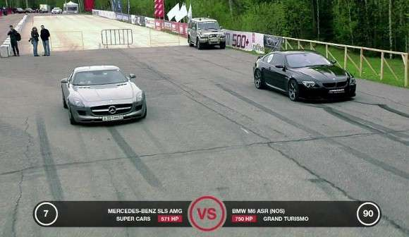 Mercedes SLS AMG vs BMW M6
