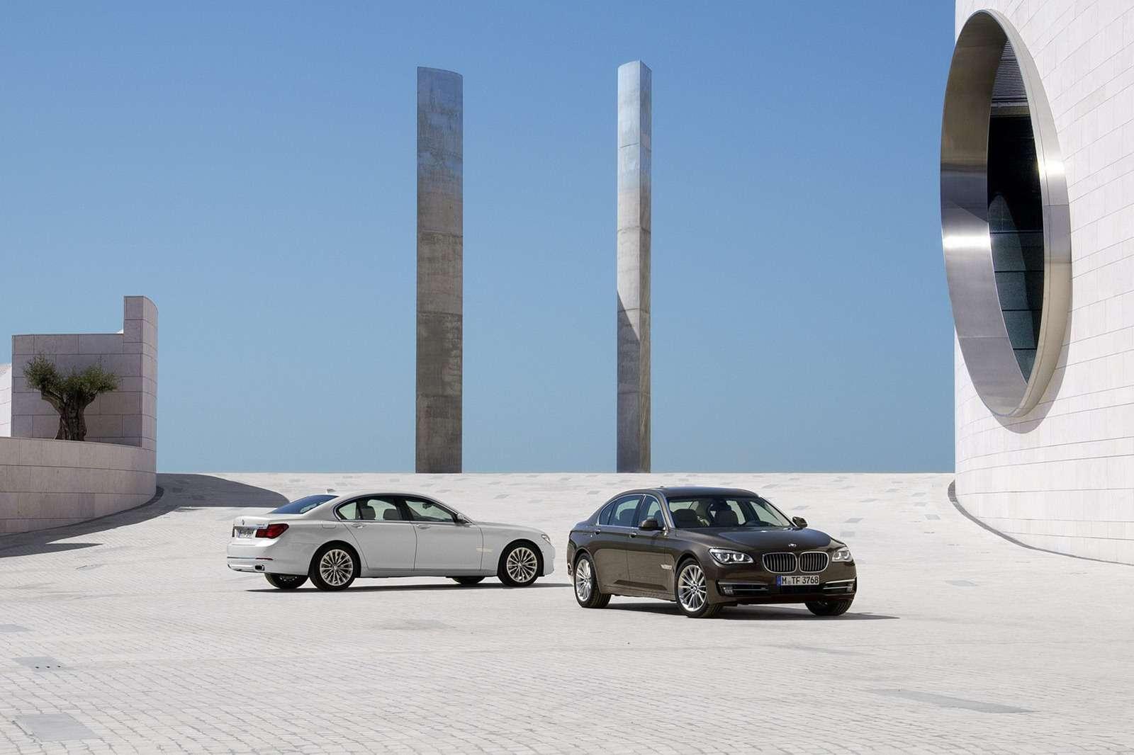 BMW serii 7 facelifting 2013 szpiegowskie