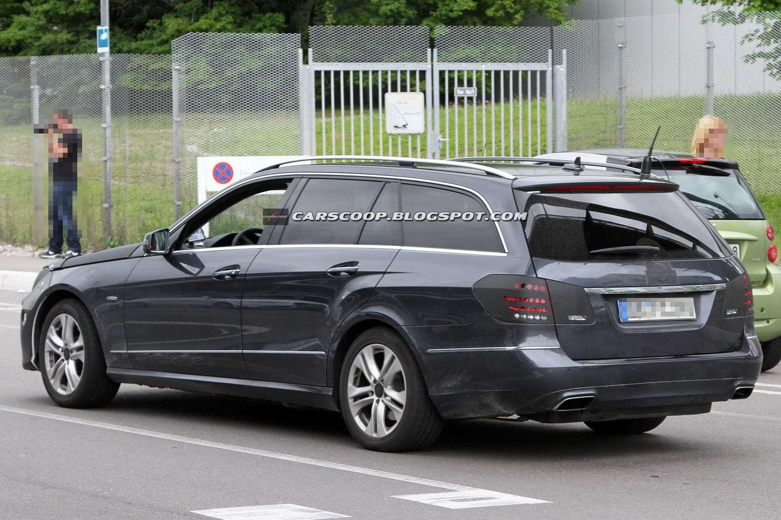 Mercedes klasy E 2013 facelift szpiegowskie