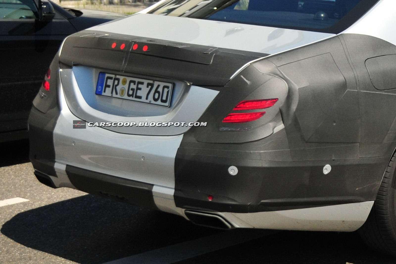 Mercedes-Benz klasy S 2014 wnętrze szpiegowskie