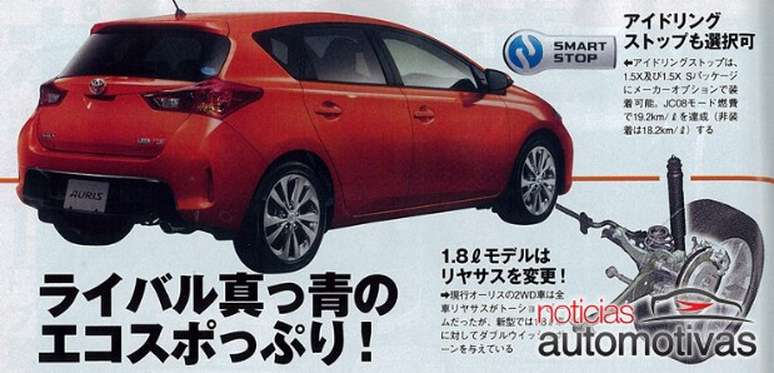 Toyota Auris 2013 wyciek