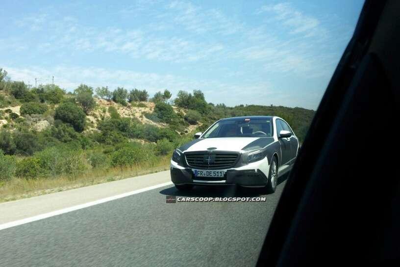 Mercedes klasy S 2014 szpiegowskie