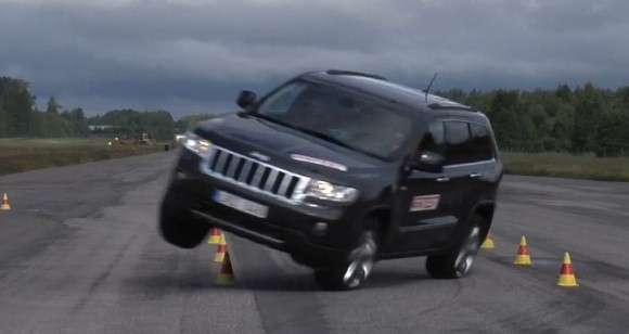 Jeep Grand Cherokee test łosia