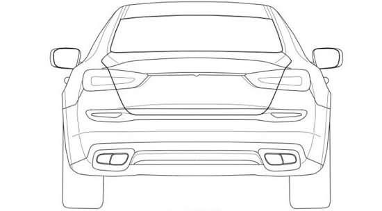 Maserati Quattroporte 2014 rysunki patentowe