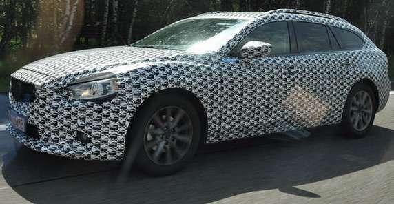 Nowa Mazda 6 kombi 2013 szpiegowskie