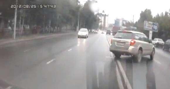 Wypadek w Rosji parkowanie bokiem