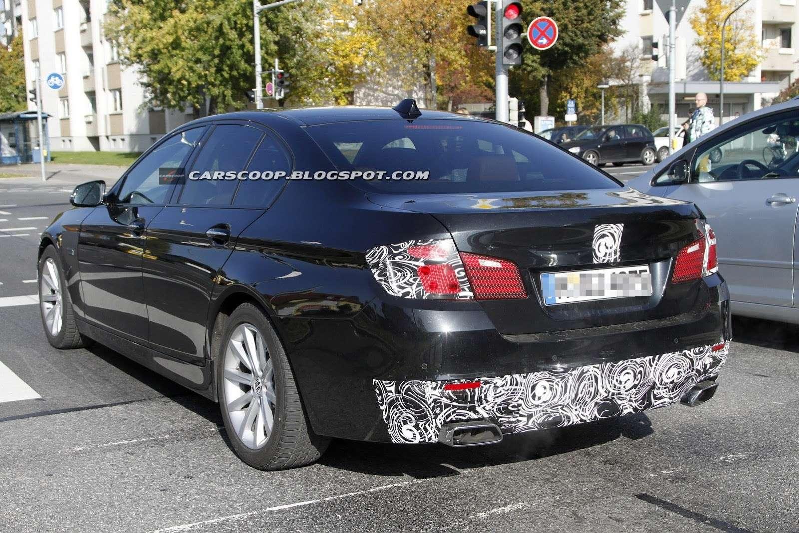 BMW serii 5 F10 2014 zdjęcia szpiegowskie