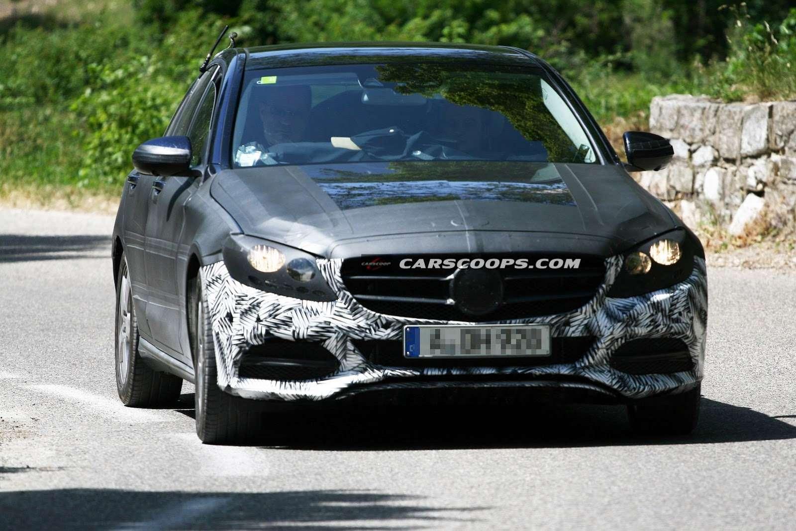 Mercedes klasy C 2015 zdjęcia szpiegowskie