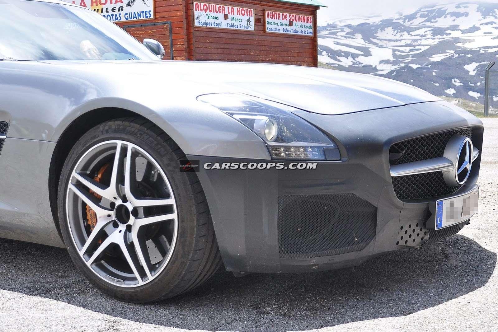Mercedes-Benz SLS AMG GT facelift szpiegowskie