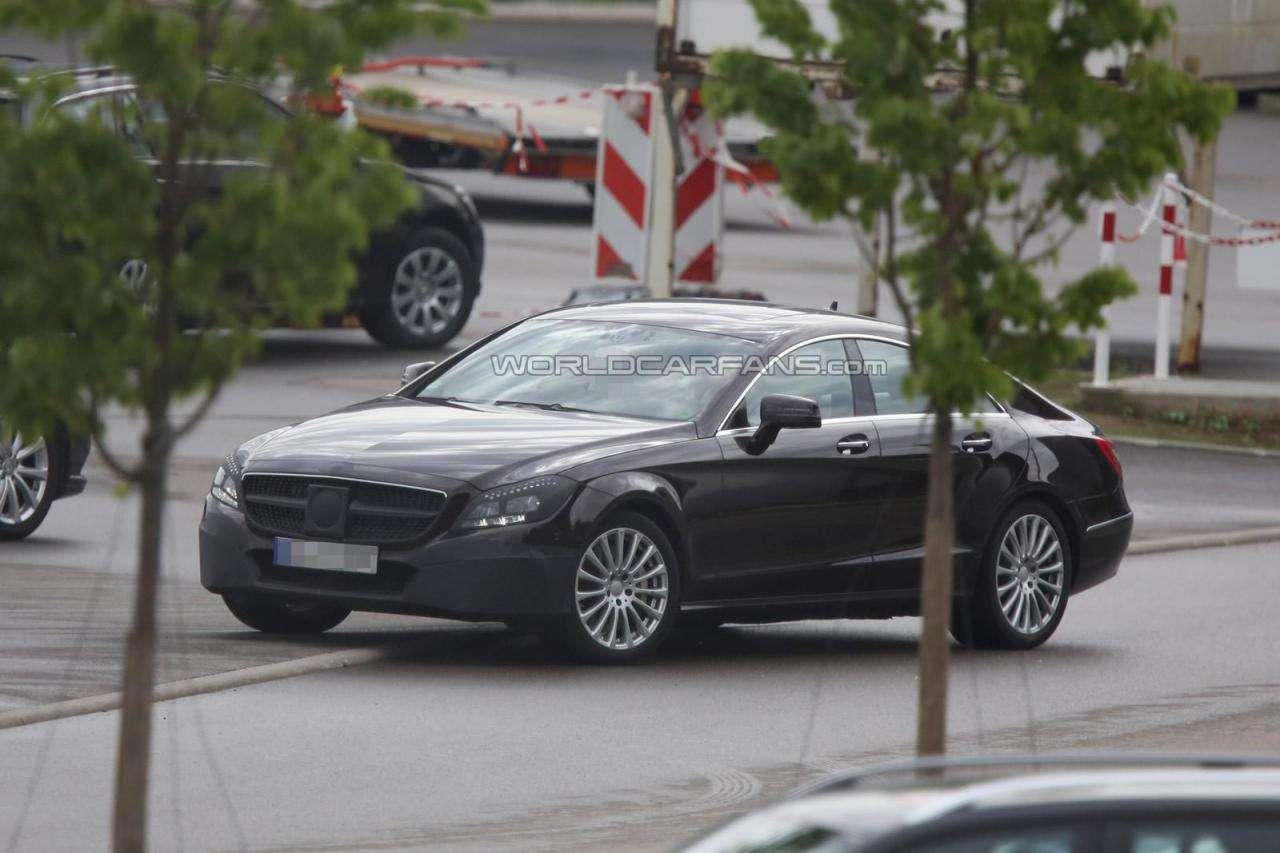 Mercedes CLS 2015 facelift szpiegowskie