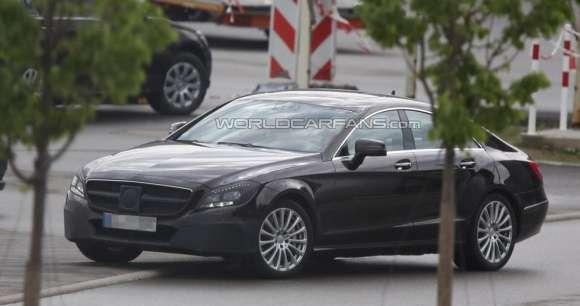 Mercedes CLS facelift szpiegowskie