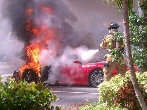 Ferrari F430 pożar