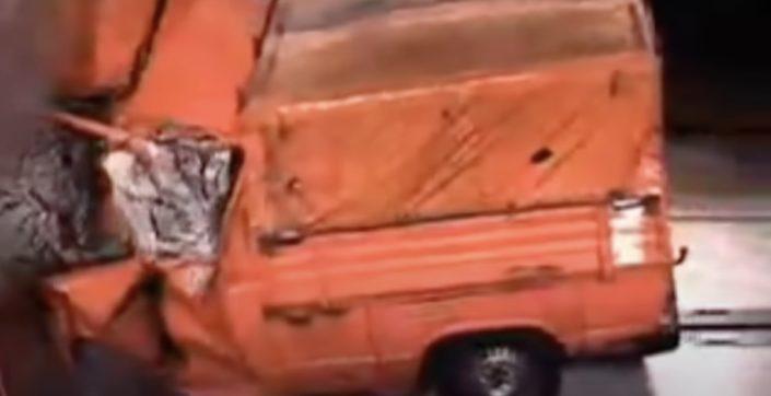 Volkswagen T3 test zderzeniowy