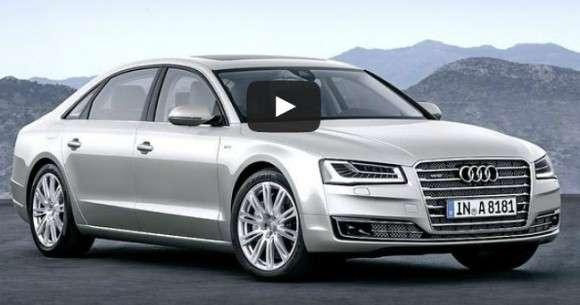 Audi A8 2014 facelift wideo