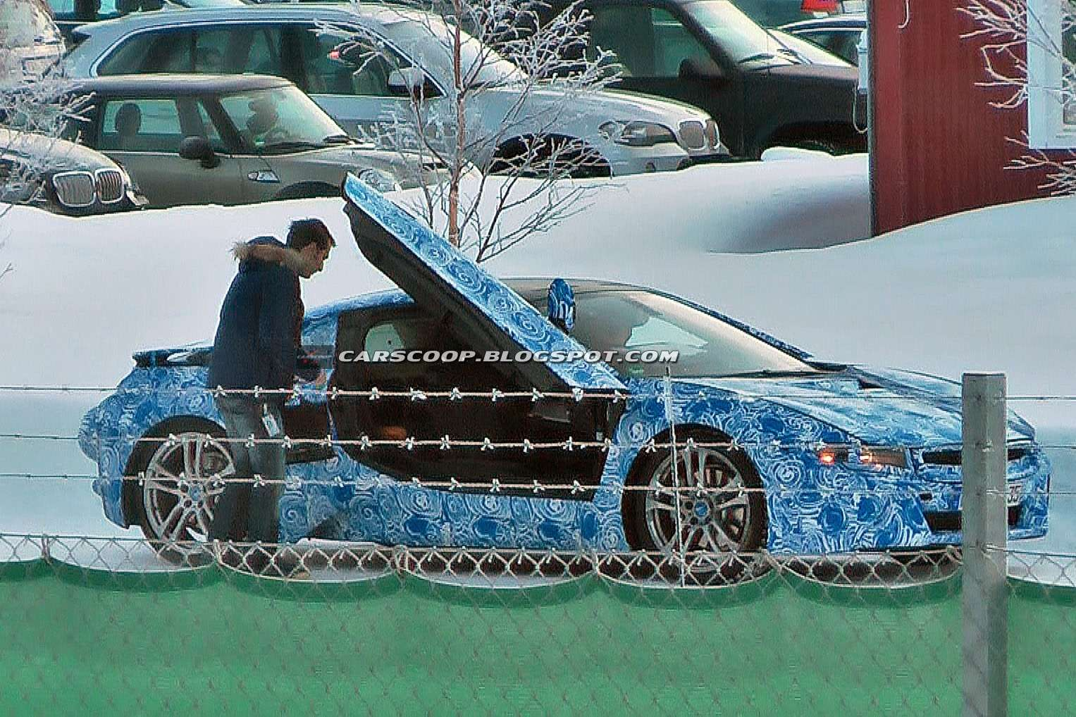 BMW i8 spy photos luty 2012