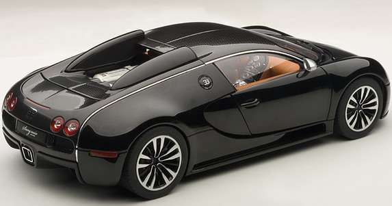 bugatti veyron sang noir w skali 1 18 zdj cia. Black Bedroom Furniture Sets. Home Design Ideas