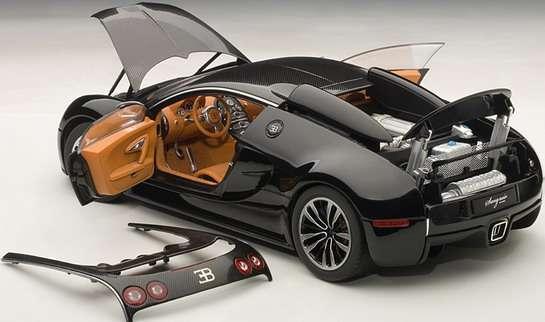 Bugatti Veyron Sang Noir w skali 1:18