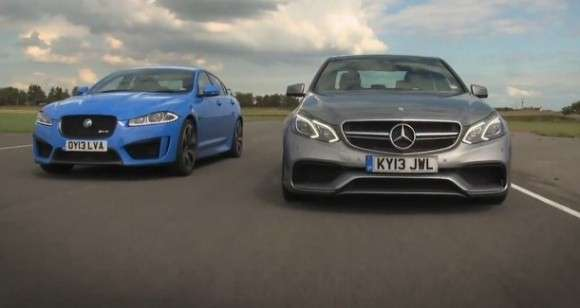 Jaguar XFR-S vs Mercedes E63 AMG
