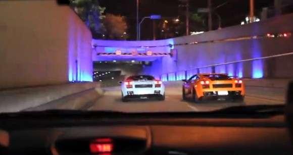 Lamborghini Gallardo w tunelu