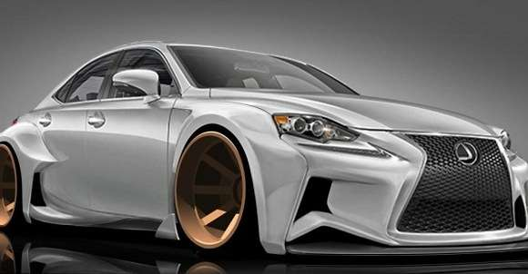 Lexus IS rysunek design