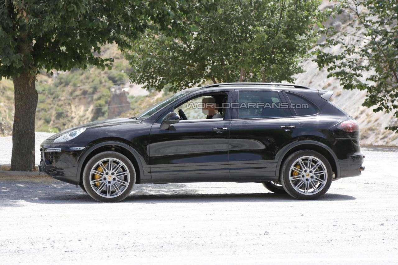 Porsche Cayenne facelift 2015 szpiegowskie