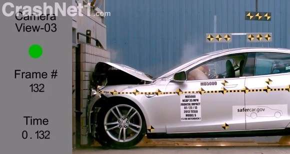 Testa Model S crash test