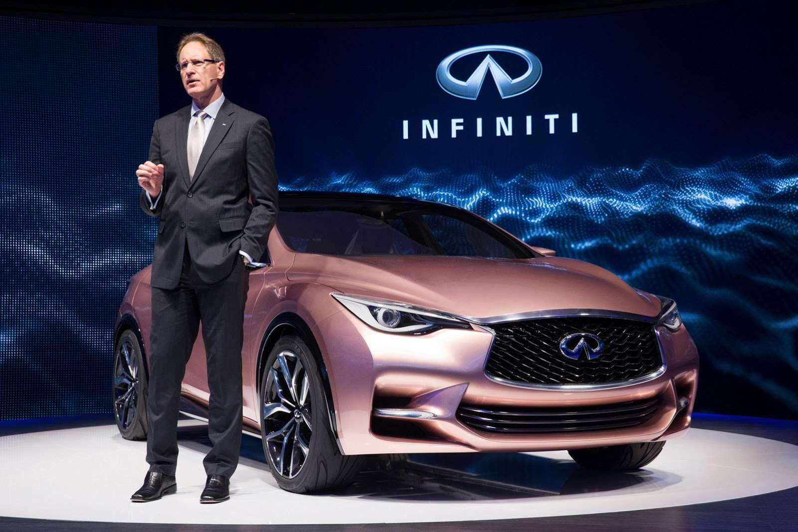 Johan de Nysschen, President of Infiniti Motor Company Ltd., unveils new Infiniti Q30 Concept at Frankfurt Motor Show 2013,embargo till 10th september 10:30 CET