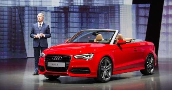 Audi A3 Cabrio 2014 live Frankfurt