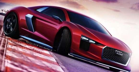 Nowe Audi R8 2015 render