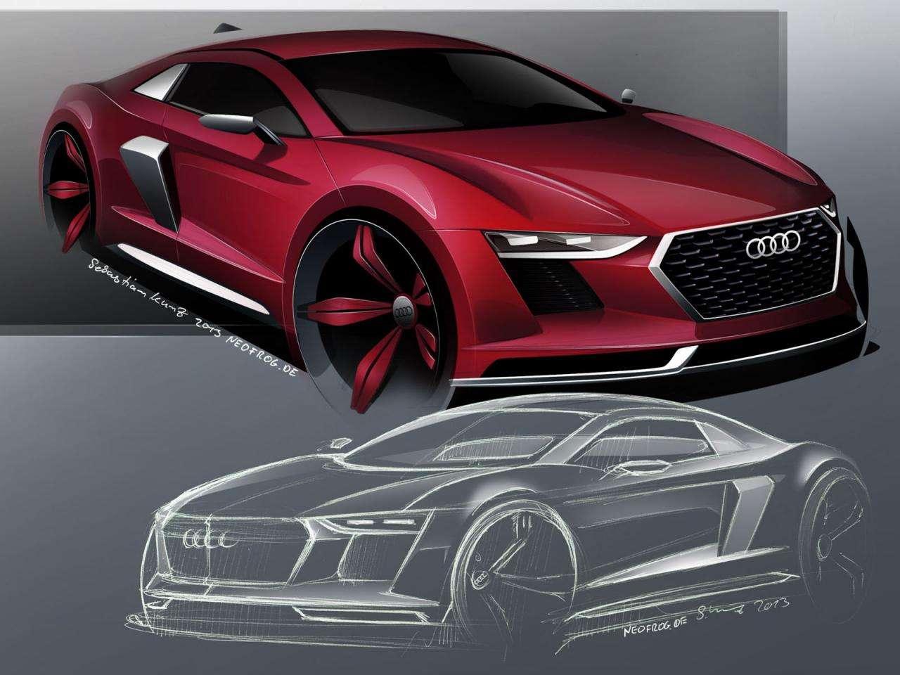 Audi R8 2015 rendering