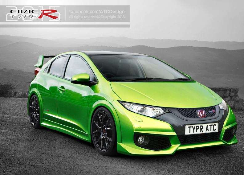 honda civic type r 2015 rendering. Black Bedroom Furniture Sets. Home Design Ideas