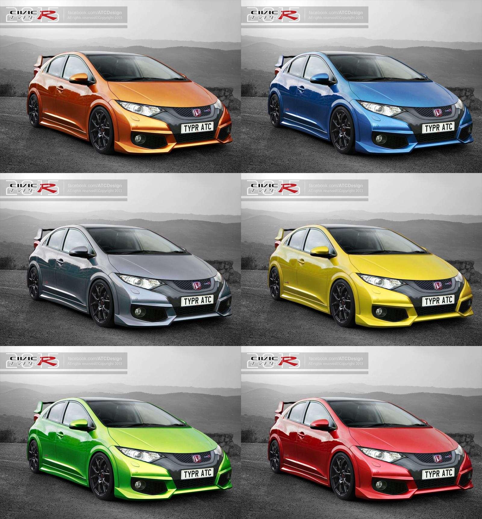 Honda Civic Type-R 2015 renderings