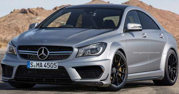 Mercedes CLA 45 AMG Black Series rendering