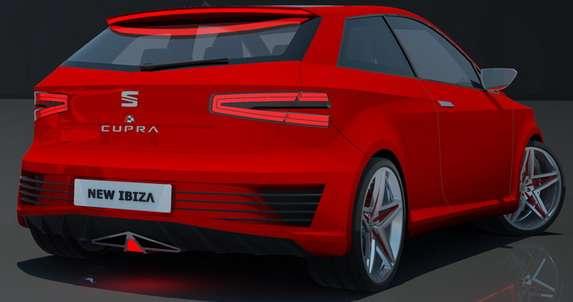 Seat Ibiza Cupra 2015 rendering