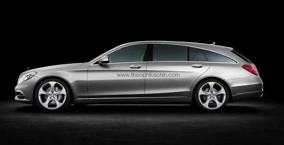 Mercedes klasy S Shooting Brake render
