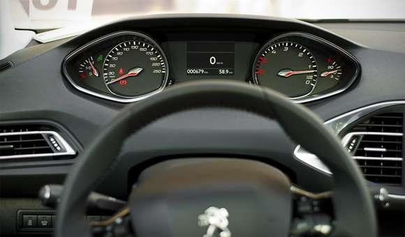 Peugeot 308 zegary