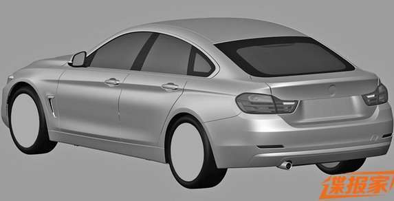 BMW serii 4 Gran Coupe rysunki
