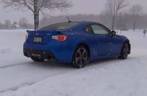 Subaru BRZ snow fun