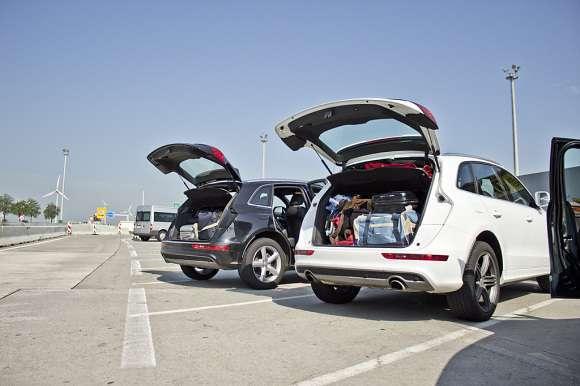 Audi Q5 - otwarty bagażnik