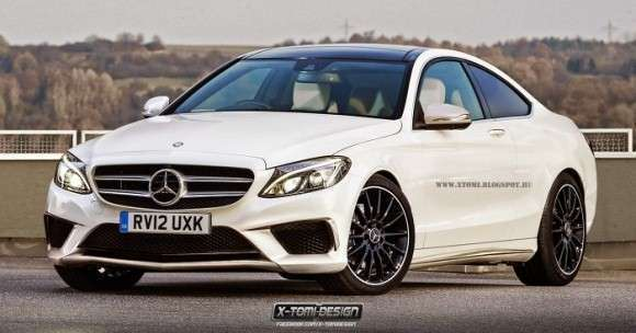 Mercedes klasy C Coupe rendering
