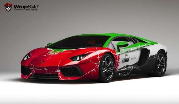 Lamborghini Aventador wrapstyle