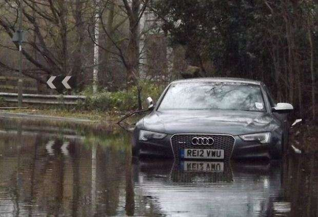 Audi RS5 in water
