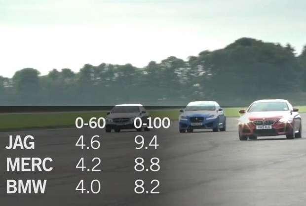 Mercedes E63 AMG, BMW M6, Jaguar XFR-S