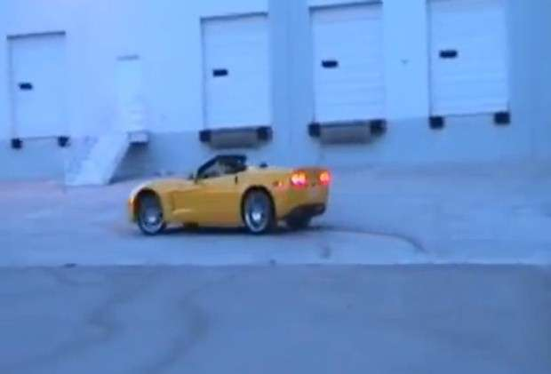 Chevrolet Corvette burnout