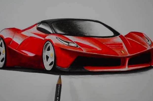 Ferrari LaFerrari rysunek