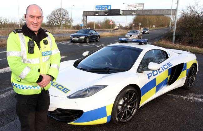 McLaren MP4-12C police