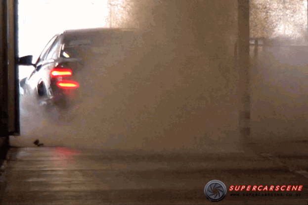 Mercedes C63 AMG Black Series burnout